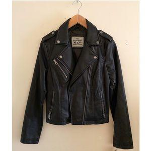 LEVI'S vegan leather biker/moto jacket
